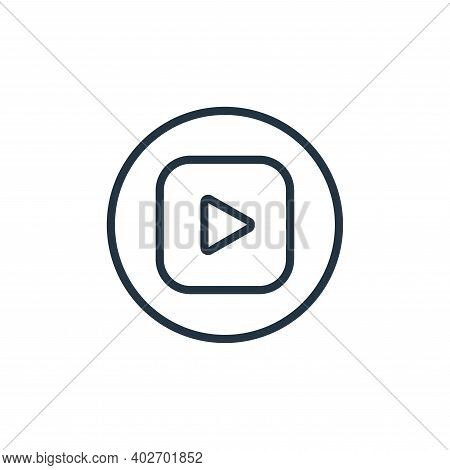 play icon isolated on white background. play icon thin line outline linear play symbol for logo, web