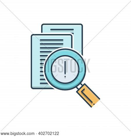 Color Illustration Icon For Risk-evaluation Risk Evaluation Discovery Statement Verification