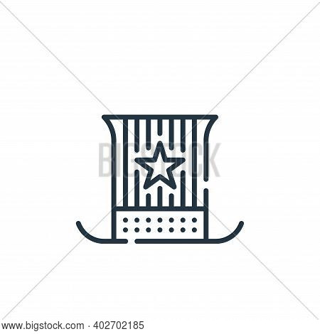 usa icon isolated on white background. usa icon thin line outline linear usa symbol for logo, web, a