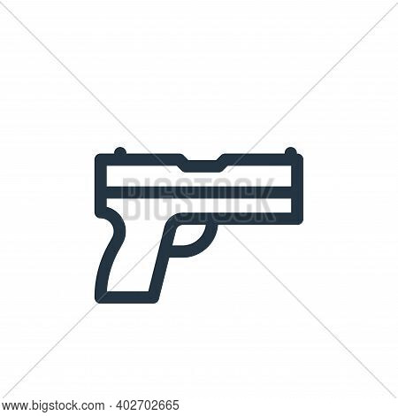 gun icon isolated on white background. gun icon thin line outline linear gun symbol for logo, web, a