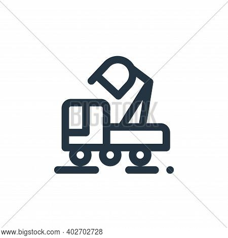 backhoe icon isolated on white background. backhoe icon thin line outline linear backhoe symbol for