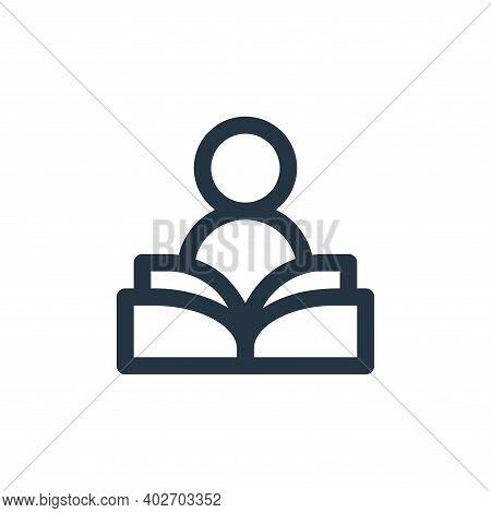 studying icon isolated on white background. studying icon thin line outline linear studying symbol f