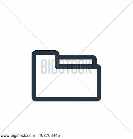 folder icon isolated on white background. folder icon thin line outline linear folder symbol for log