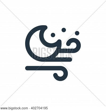 windy icon isolated on white background. windy icon thin line outline linear windy symbol for logo,