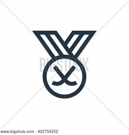 hockey icon isolated on white background. hockey icon thin line outline linear hockey symbol for log