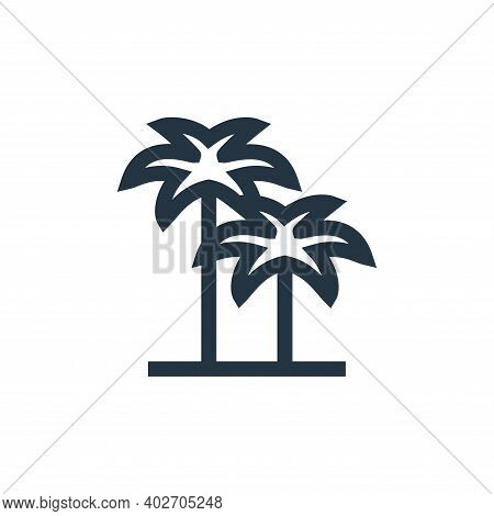 palm trees icon isolated on white background. palm trees icon thin line outline linear palm trees sy