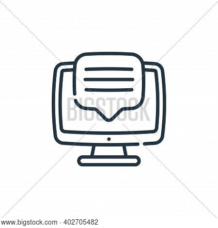 comment icon isolated on white background. comment icon thin line outline linear comment symbol for