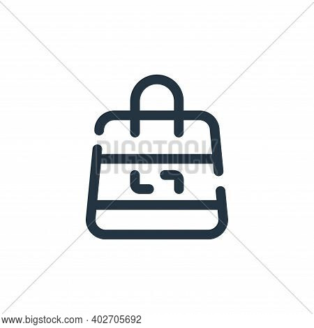shopping bag icon isolated on white background. shopping bag icon thin line outline linear shopping