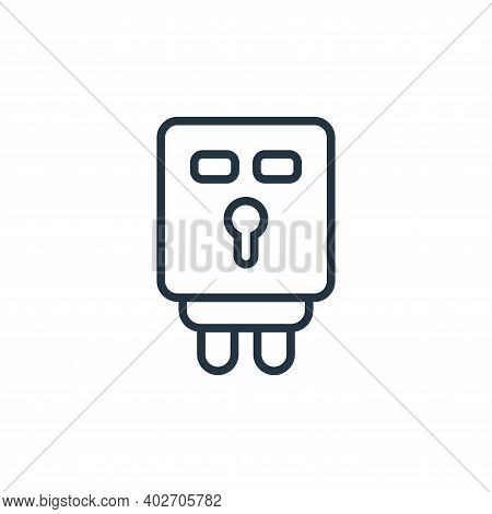 electronic utensil icon isolated on white background. electronic utensil icon thin line outline line