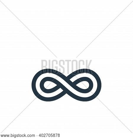 infinity icon isolated on white background. infinity icon thin line outline linear infinity symbol f