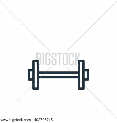 weights icon isolated on white background. weights icon thin line outline linear weights symbol for