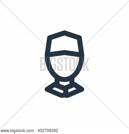 man avatar icon isolated on white background. man avatar icon thin line outline linear man avatar sy