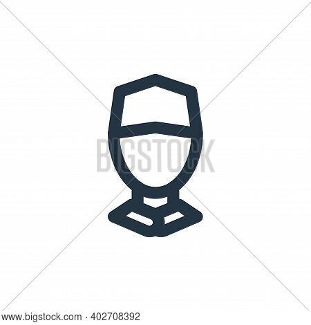 man avatar icon isolated on white background. man avatar icon thin line outline linear man avatar sy