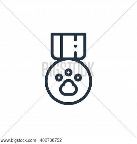 badge icon isolated on white background. badge icon thin line outline linear badge symbol for logo,