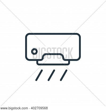 air conditioner icon isolated on white background. air conditioner icon thin line outline linear air
