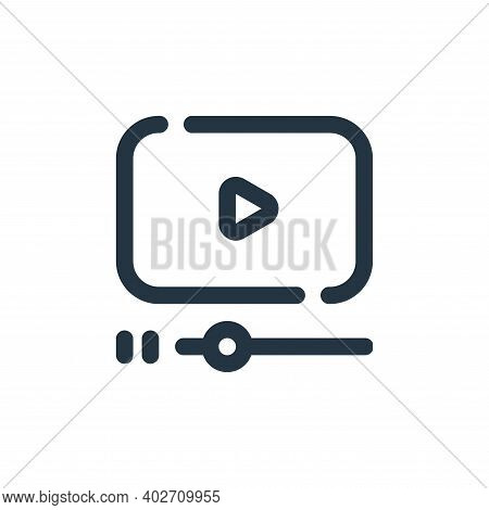 video player icon isolated on white background. video player icon thin line outline linear video pla