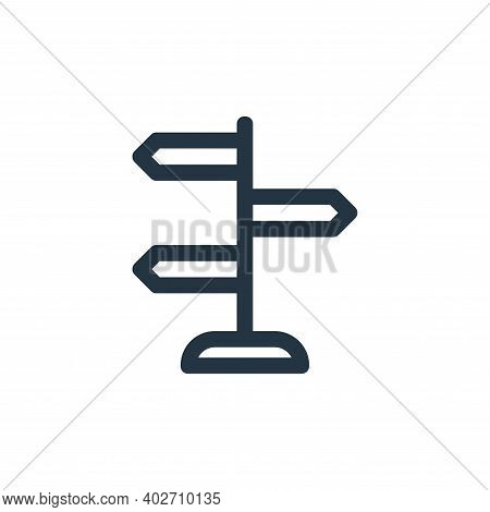 guidepost icon isolated on white background. guidepost icon thin line outline linear guidepost symbo