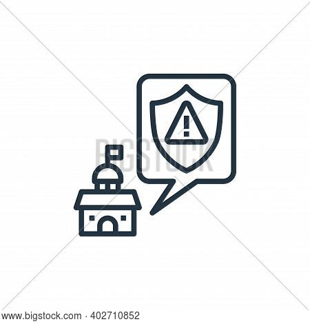 policy icon isolated on white background. policy icon thin line outline linear policy symbol for log