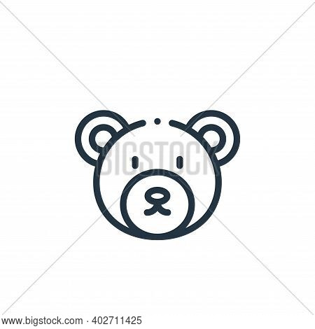 bear icon isolated on white background. bear icon thin line outline linear bear symbol for logo, web