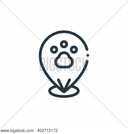 pet icon isolated on white background. pet icon thin line outline linear pet symbol for logo, web, a