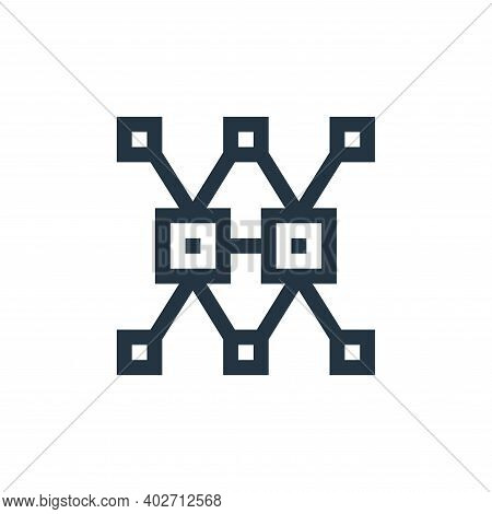 data complexity icon isolated on white background. data complexity icon thin line outline linear dat