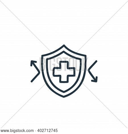 immune system icon isolated on white background. immune system icon thin line outline linear immune