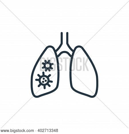 pneumonia icon isolated on white background. pneumonia icon thin line outline linear pneumonia symbo