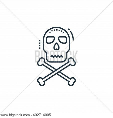 danger icon isolated on white background. danger icon thin line outline linear danger symbol for log