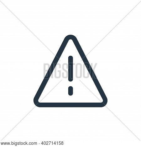 alert icon isolated on white background. alert icon thin line outline linear alert symbol for logo,