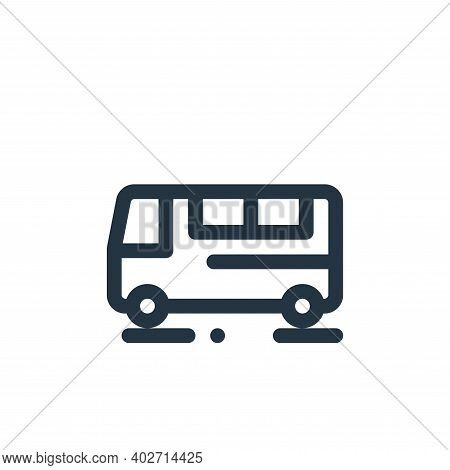 bus icon isolated on white background. bus icon thin line outline linear bus symbol for logo, web, a