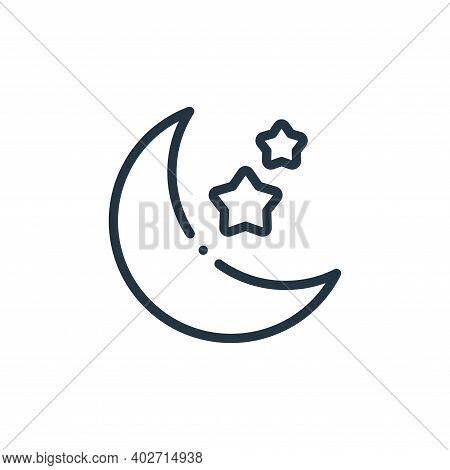 moon icon isolated on white background. moon icon thin line outline linear moon symbol for logo, web