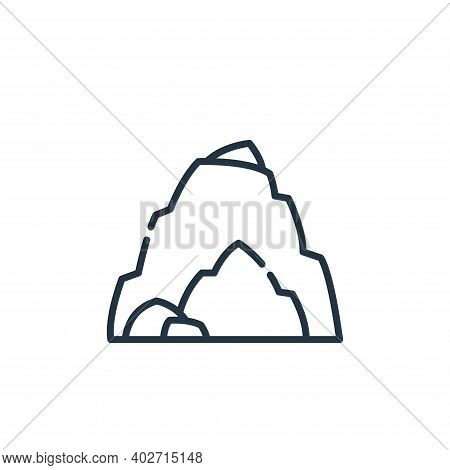 cave icon isolated on white background. cave icon thin line outline linear cave symbol for logo, web