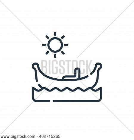 gondola icon isolated on white background. gondola icon thin line outline linear gondola symbol for