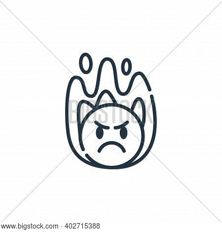 angry icon isolated on white background. angry icon thin line outline linear angry symbol for logo,
