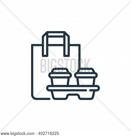 takeaway icon isolated on white background. takeaway icon thin line outline linear takeaway symbol f