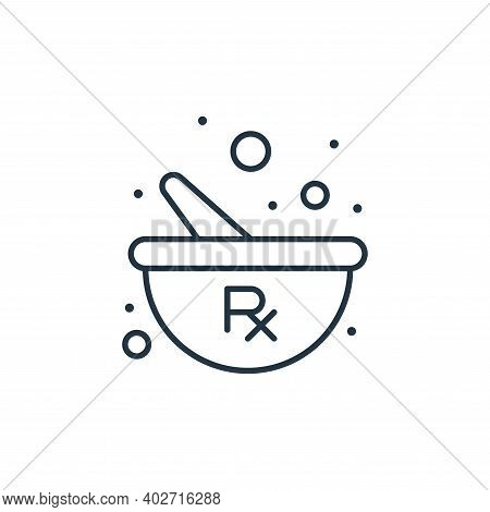 herbal treatment icon isolated on white background. herbal treatment icon thin line outline linear h