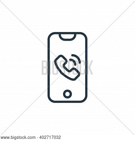 phone icon isolated on white background. phone icon thin line outline linear phone symbol for logo,
