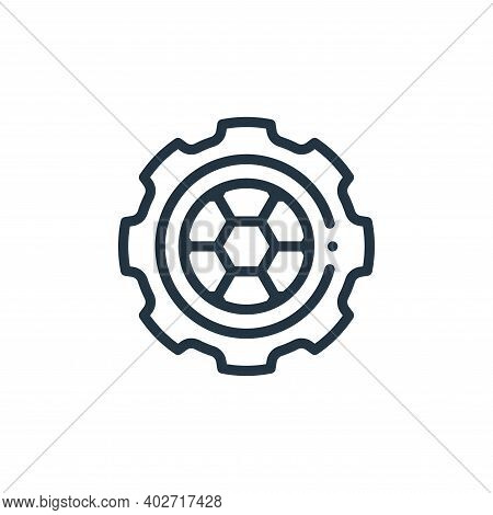 ball icon isolated on white background. ball icon thin line outline linear ball symbol for logo, web