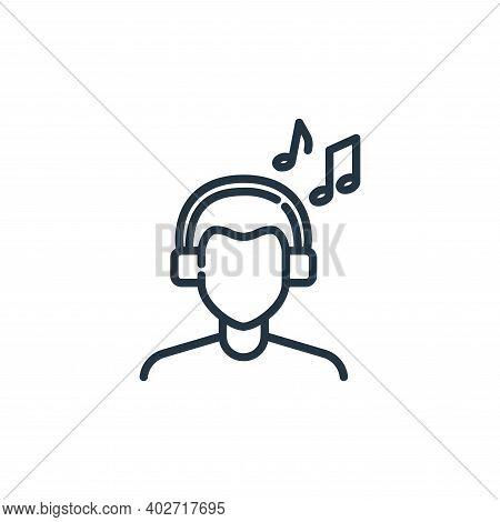 music headphones icon isolated on white background. music headphones icon thin line outline linear m