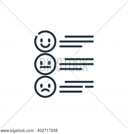 review icon isolated on white background. review icon thin line outline linear review symbol for log