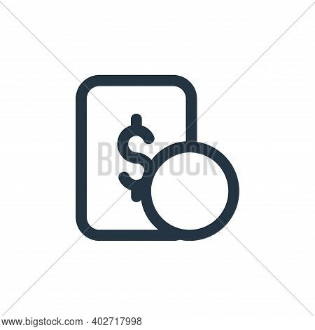 money icon isolated on white background. money icon thin line outline linear money symbol for logo,