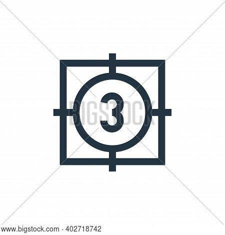 countdown icon isolated on white background. countdown icon thin line outline linear countdown symbo