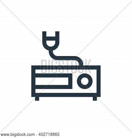 vhs player icon isolated on white background. vhs player icon thin line outline linear vhs player sy