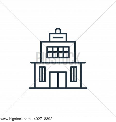 building icon isolated on white background. building icon thin line outline linear building symbol f