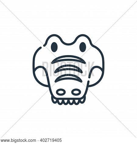 Alligator icon isolated on white background. Alligator icon thin line outline linear Alligator symbo