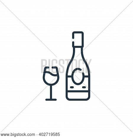 wine bottle icon isolated on white background. wine bottle icon thin line outline linear wine bottle