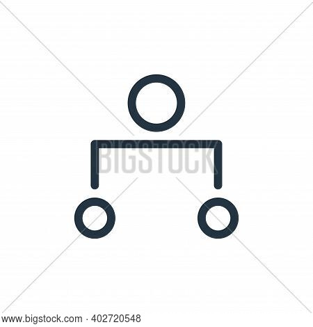 hierarchy icon isolated on white background. hierarchy icon thin line outline linear hierarchy symbo