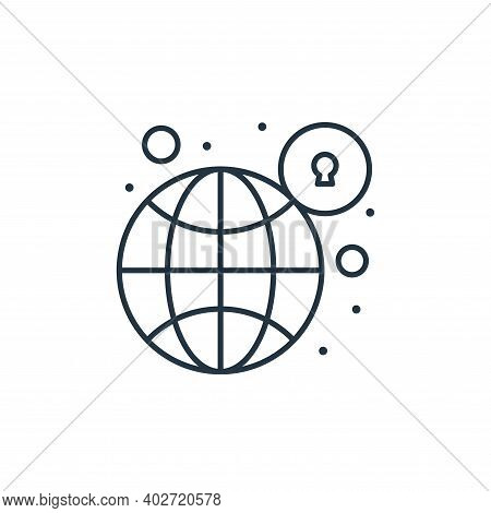 global connection icon isolated on white background. global connection icon thin line outline linear