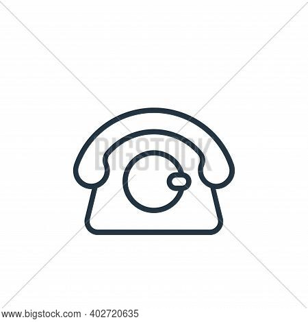 telephone icon isolated on white background. telephone icon thin line outline linear telephone symbo