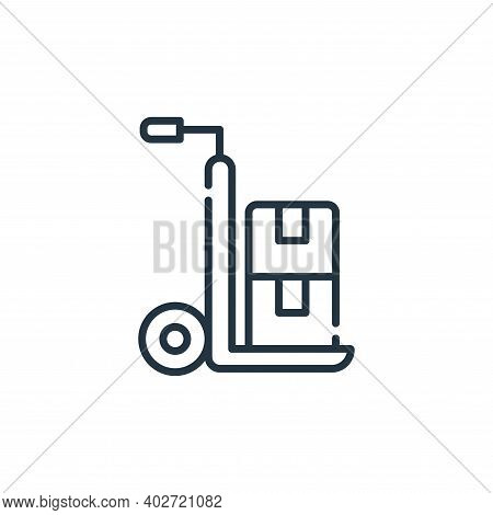 delivery cart icon isolated on white background. delivery cart icon thin line outline linear deliver